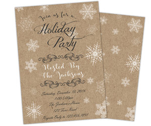 Christmas party, etsy, and rustic christmas image