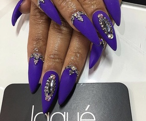 almond, nails, and purple image
