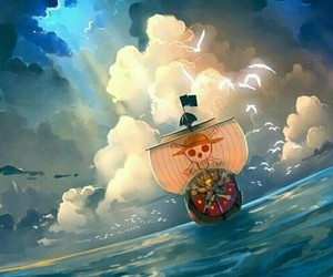 one piece, thousand sunny, and anime image