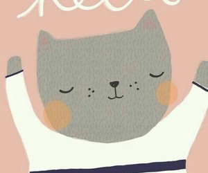 illustration and cat image