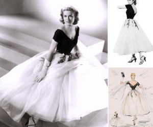 grace kelly, dress, and vintage image