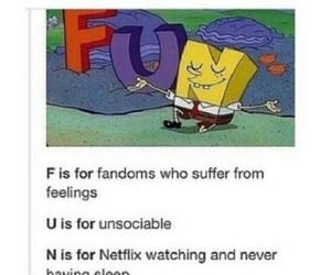 funny, fandom, and netflix image