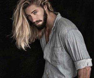 long hair, Hot, and beard image