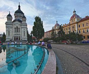 fountain, romania, and cluj-napoca image
