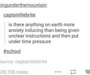 school, funny, and anxiety image