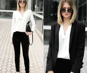 outfit, smart casual, and office wear image