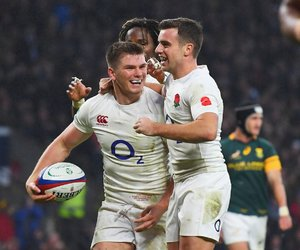 rugby, owen farrell, and george ford image