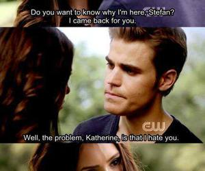 katherine, tvd, and stefan image