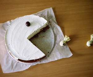 pacman, cake, and food image