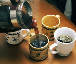 coffee, tea, and vintage image