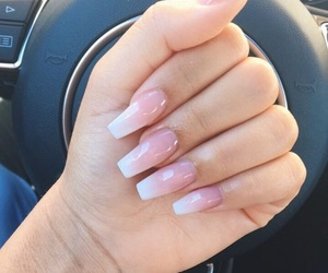 nails, nail ideas, and ombre image