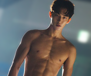 korean, model, and abs image