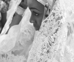 African, black white, and wedding image