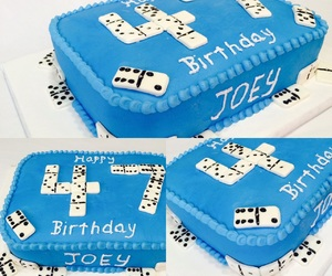 birthday cake, cake, and blue cake image