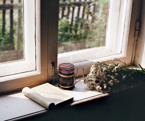 aesthetic, window, and brown image