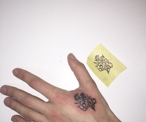 flower, hand tattoo, and not mine image