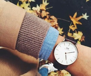 autumn, watch, and fashion image