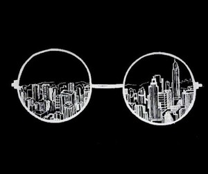 overlay, city, and glasses image
