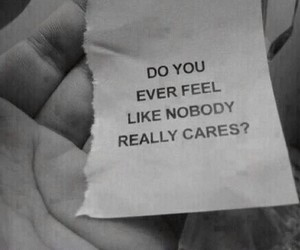 alone, depressed, and nobody cares image
