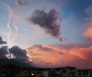 clouds, heartbeat, and magic image