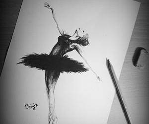 ballet, blackandwhite, and body image
