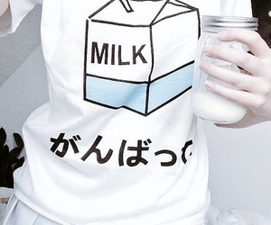 fashion, milk, and tshirt image