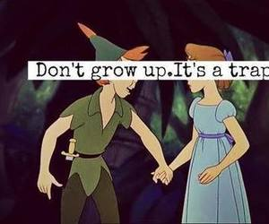 peter pan, disney, and trap image
