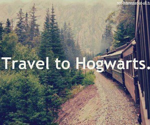 hogwarts, harry potter, and travel image
