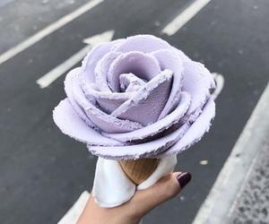 ice cream, food, and rose image