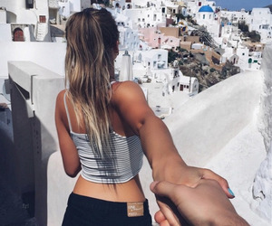 girl, couple, and Greece image