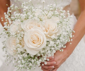 flowers and bridal bouquet image