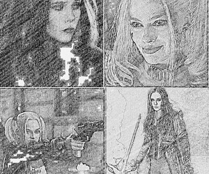 harley quinn and scarlett witch image