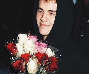 rose, flowers, and justin bieber image