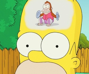 homer, monkey, and the simpsons image