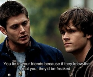 supernatural, lies, and friends image