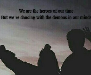 demons, heroes, and quotes image