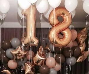 balloons, birthday, and 18 image