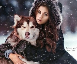 selena gomez, winter, and snow image
