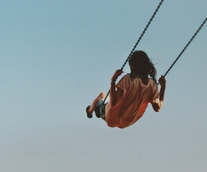 girl, swing, and hipster image