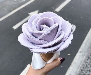ice cream, rose, and violet image