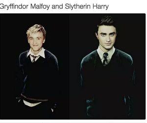 harry potter, gryffindor, and slytherin image