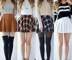 girls, goals, and skirts image