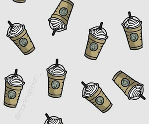 background, coffee, and starbucks image