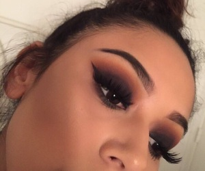 eye, eyeshadow, and girls image