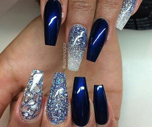 blue, girls, and nails image