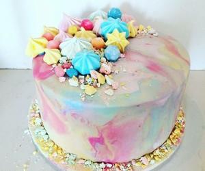 cake, mermaid, and sea image