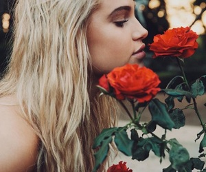 rose, model, and meredith mickelson image