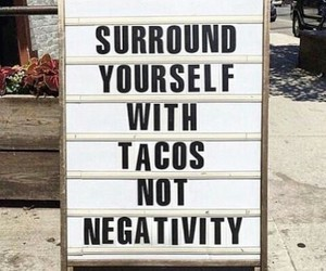 quotes, tacos, and food image