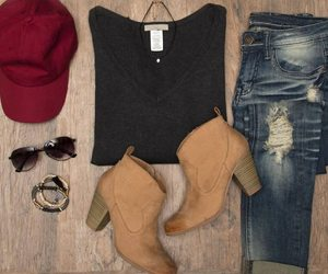 boots, accessories, and jeans image