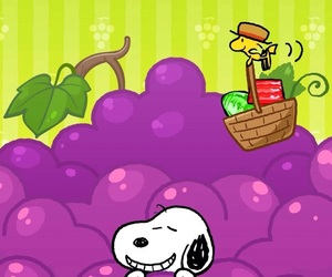 grape, peanuts, and snoopy image